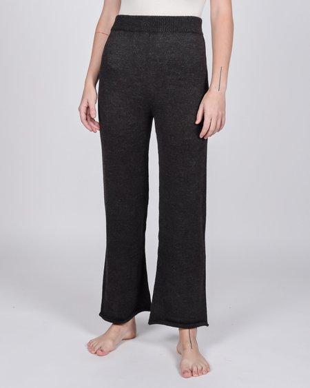 Wol Hide Straight Alpaca Knit Pants - Charcoal