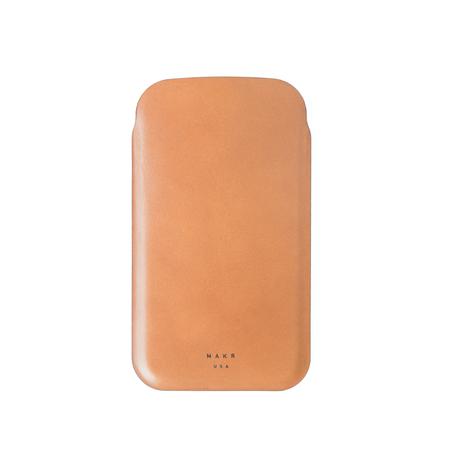 MAKR iPhone Weld Sleeve case - Tan Wicket