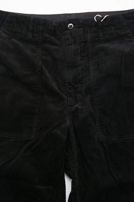 Engineered Garments Fatigue Pant in Cotton 8W Corduroy - Black