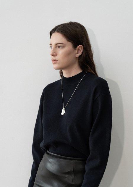 AMOMENTO mock neck sweater top
