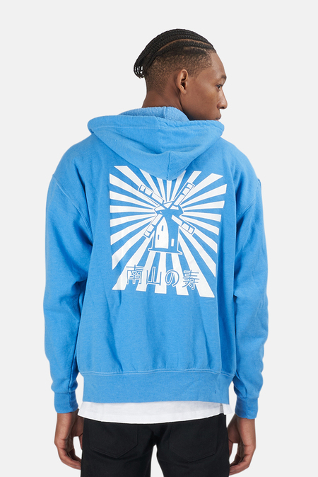 Blue&Cream Japanese Windmill Hoodie Sweater - Sky