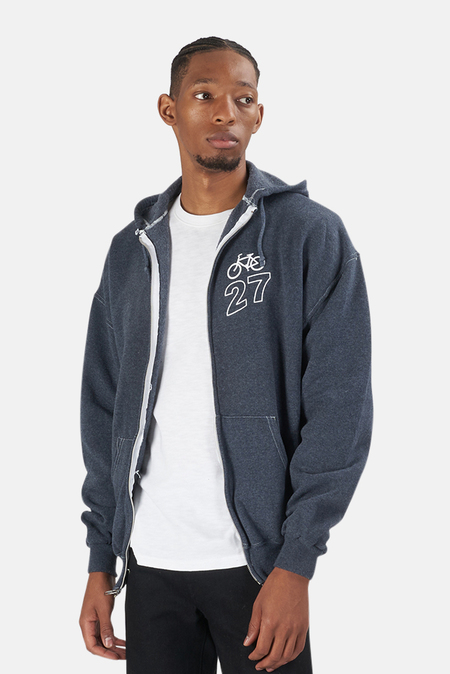 Blue&Cream Bicycle 27 Hoodie Sweater - Blue/White