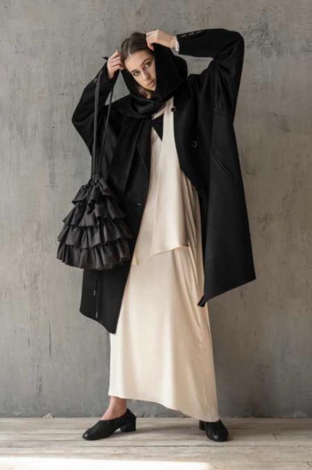 KM by Lange Night Coat - Black