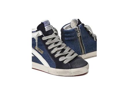 Kids Golden Goose Slide Denim Upper Sneaker