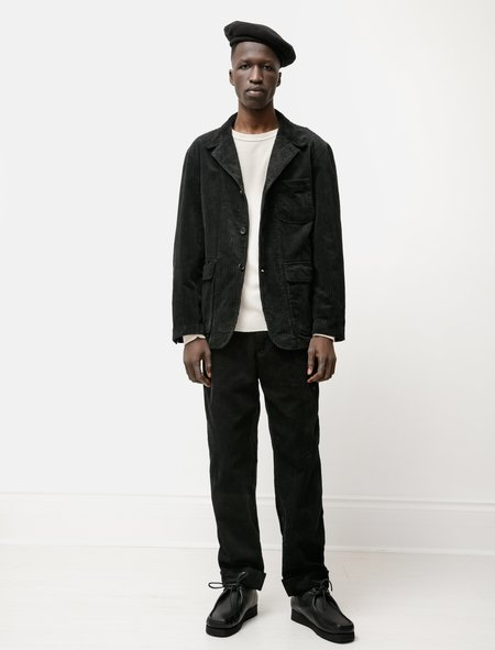 Engineered Garments Loiter Jacket in Hi Lo Corduroy - Black