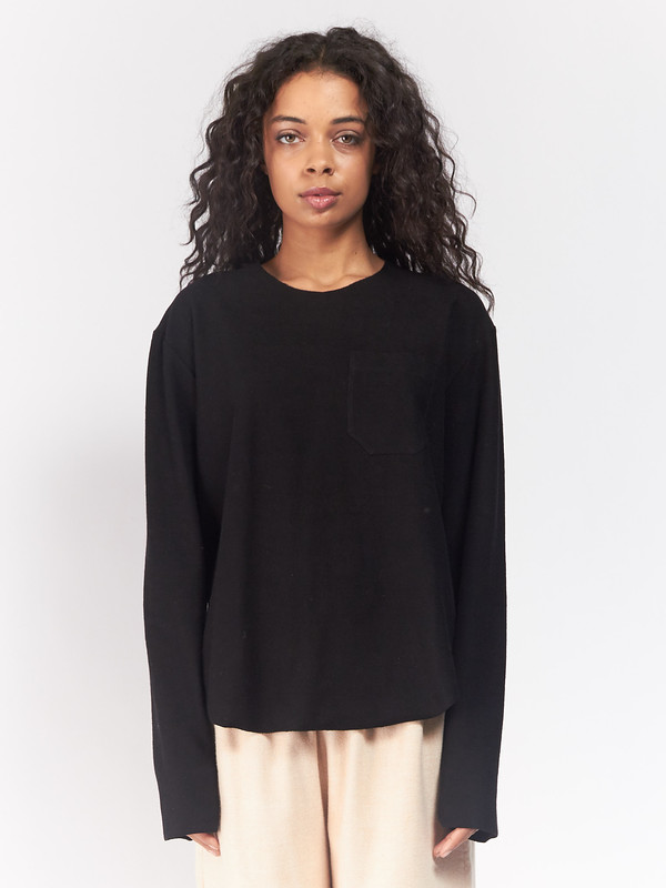 ASSEMBLY Longsleeve Terry Tee Black
