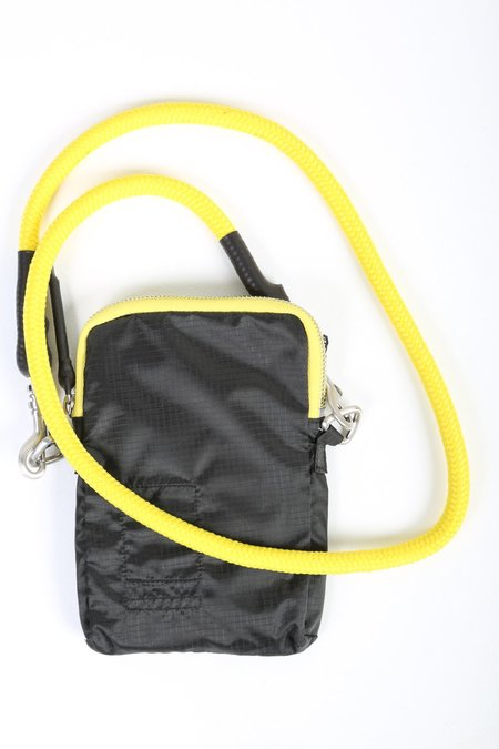 Rick Owens Small Pouch - Black/Yellow Strap