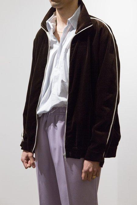 Camiel Fortgens Velvet Piping Track Jacket - Brown