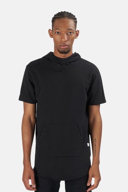 Blue&Cream x Kinetix Hampton Nights Short Sleeve Hoodie Sweater - Black