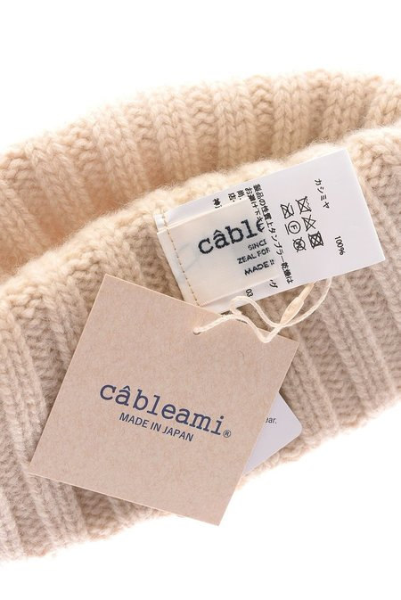Cableami cashmere 2x2 ribbed beanie