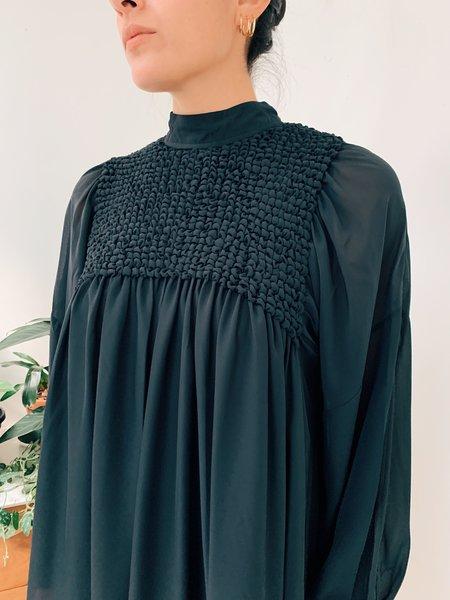 Ganni Smock Chiffon Mini Dress