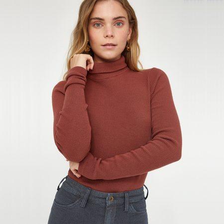 Lacausa Sweater Rib Turtleneck - Sienna