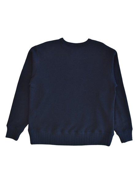 Velva Sheen Loopwheeler Crewneck sweater - Navy