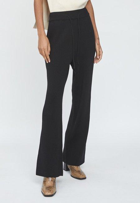 LE17SEPTEMBRE Cotton Knit Pants - Black