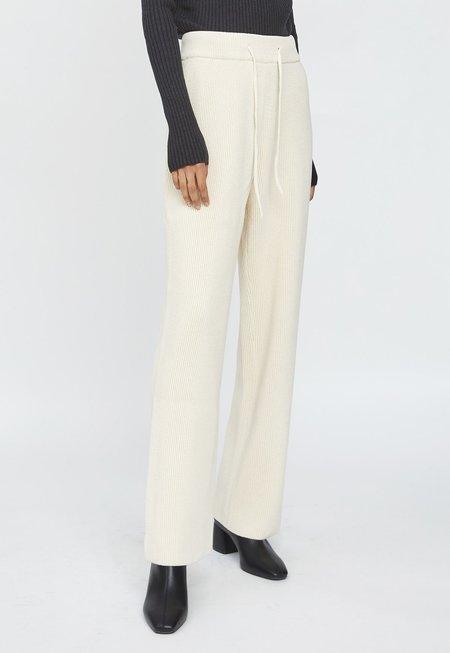 LE17SEPTEMBRE Cotton Knit Pants - Ecru