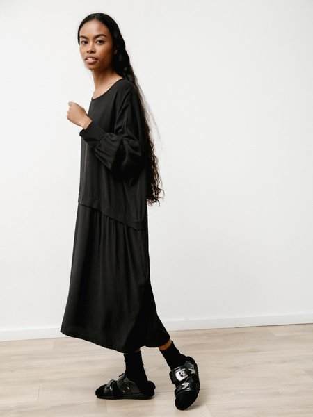 Priory Kise II Textured Tencel Dress - Black