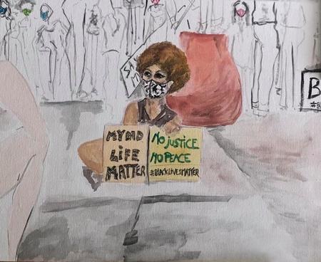 Another Garde Soumountha K School these days Study 1 or The Activist Art