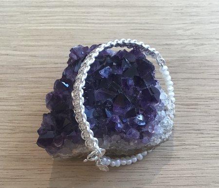 Mirit Weinstock Mizuhiki & Petite Pearls Bracelet - Silver Sterling