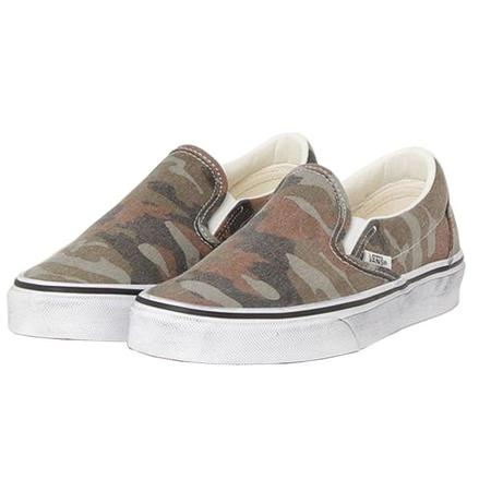 VANS Classic Slip-On Washed Skate - Camo Brown/Green
