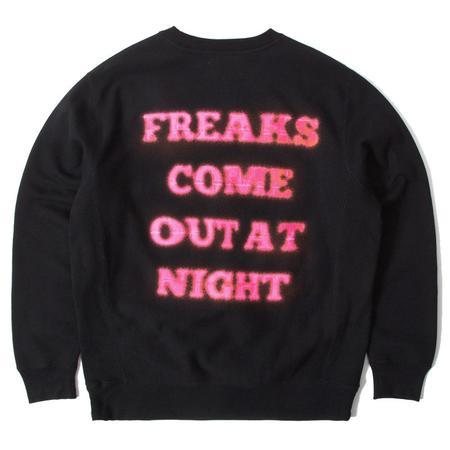 PLEASURES Freaks Premium Crewneck - Black