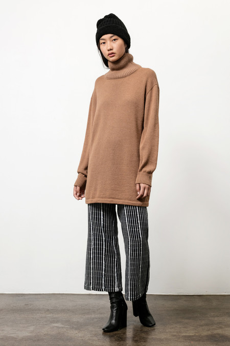 Osei-Duro Alpaca Turtleneck Tunic in Khaki