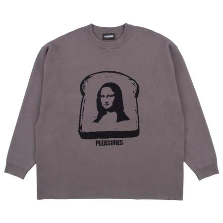 PLEASURES Mona Knit Sweater - Charcoal