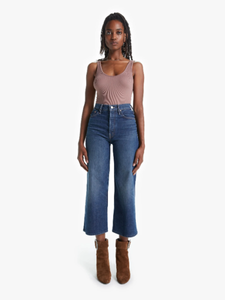 Mother Denim The Tomcat Roller Shorty Jeans - Painfully Obvious