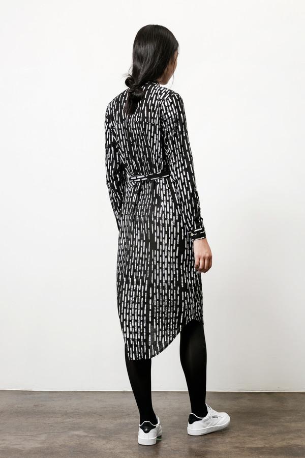 Osei-Duro Causa Dress in B&W Broken Lines