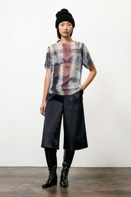 Osei-Duro Note T in Silk Chiffon Brushstrokes