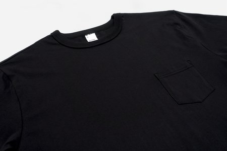 3Sixteen Pima Pocket T Shirt 2 Pack - Black