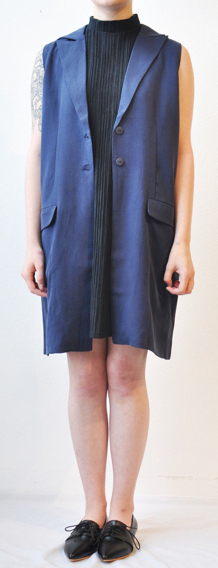 "Just Female ""Jaru"" Long Oversized Vest Dress"