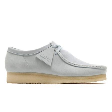 Clarks Wallabee Shoe - Light Blue Combi