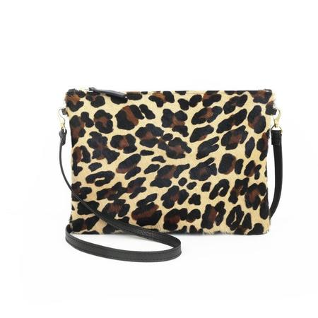 Pattino Shoe Boutique Prime Cut Cowhide Pouch Purse - Leopard