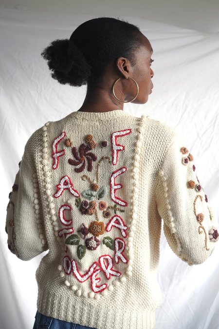 Vintage Fact Over Fear Cardigan