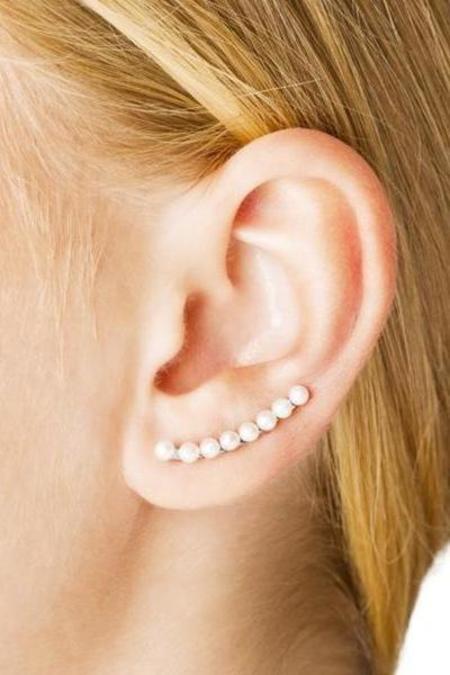 Vibe Harslof Iris Long Earring - 18 kt gold-plated sterling silver
