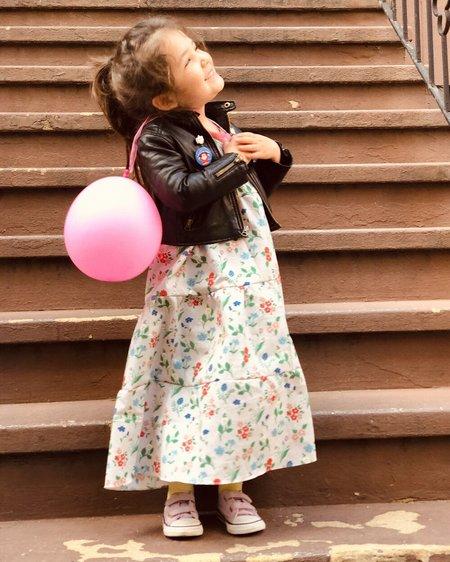 Kids Petit Mioche Organic Printed Maxi Dress