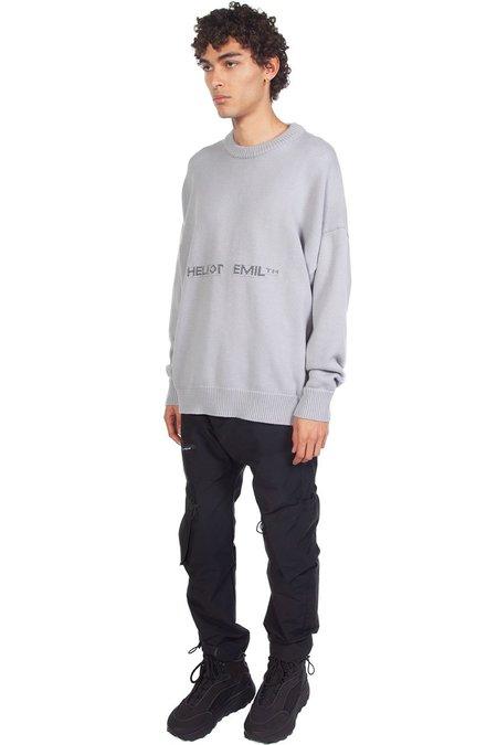 Heliot Emil Logo Oversized Crewneck Knit - Grey
