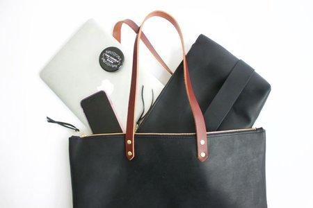 Neva Opet Handmade Leather Zip Tote