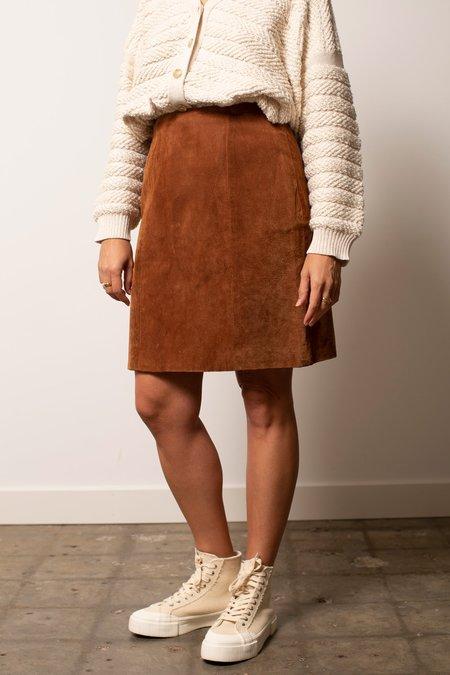 Vintage Suede Skirt - Brown