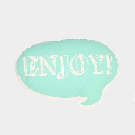 Ah, Quel Plaisir! Green Enjoy Pillow - Dodo Les Bobos