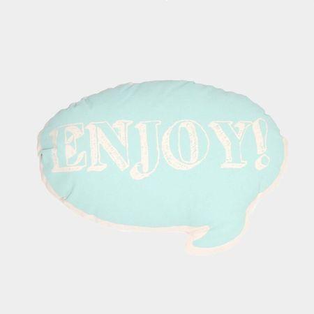 Ah, Quel Plaisir! Blue Enjoy Pillow - Dodo Les Bobos