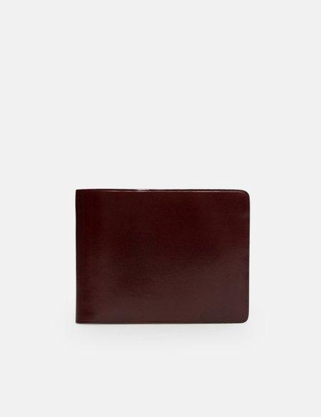 Il Bussetto Bi-Fold Leather Wallet - Bordeaux