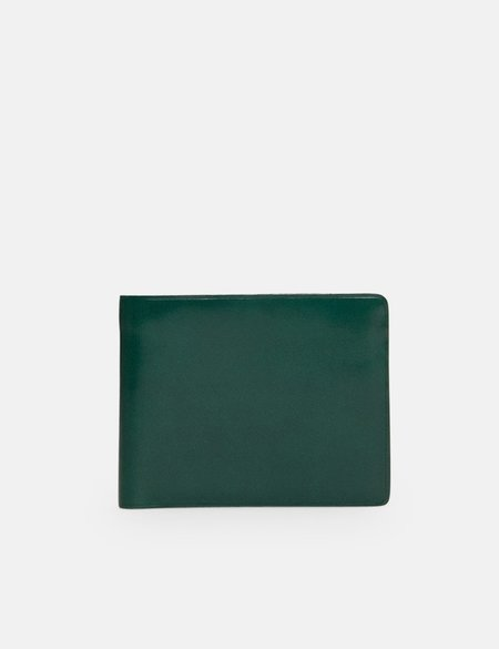 Il Bussetto Bi-Fold Leather Wallet - Evergreen