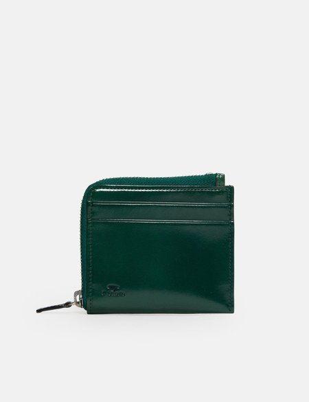 Il Bussetto Small Zippy Leather Wallet - Evergreen