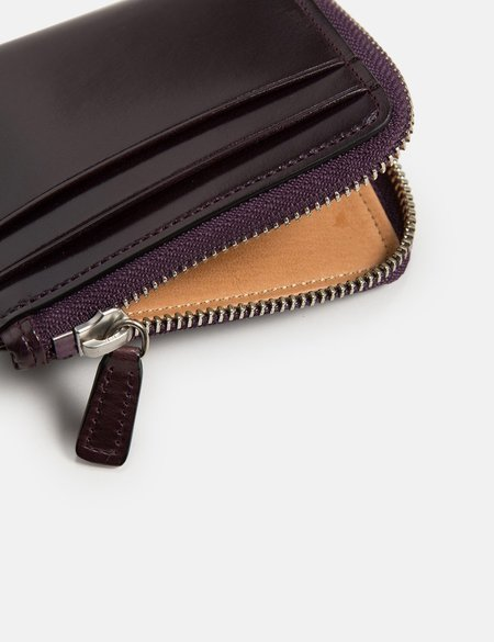 Il Bussetto Small Zippy Leather Wallet - Prune