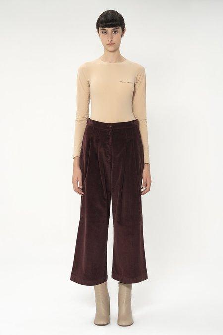 Katharine Hamnett Ella corduroy trousers - Red wine