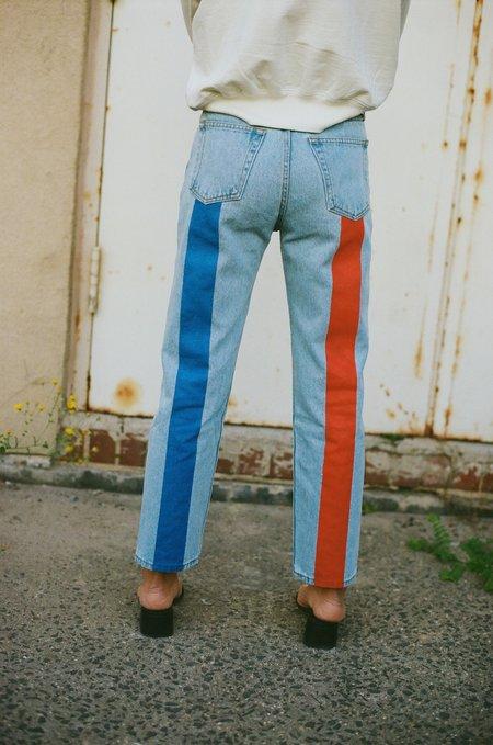 Still Here New York Tate Crop Jeans - Vintage Blue