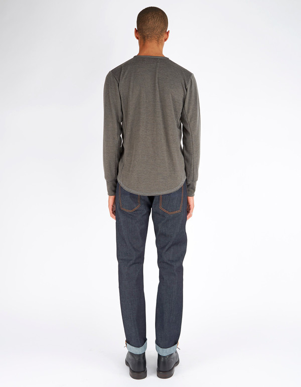 Men's 18 Waits Hobo Henley Soft Charcoal Jersey