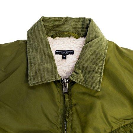 Engineered Garments Flight Satin Nylon Driver Jacket - Olive