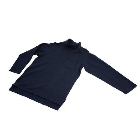 Engineered Garments  Cotton Fleece Mock Turtle - Dark Navy